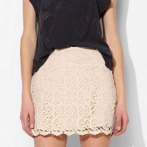 NWT Anthropologie Crochet Mini Skirt